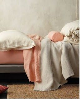 eileen fisher peach bedding | ... this stuff is super pretty from garnet hill the eileen fisher home