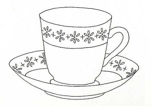 Sweet little tea cup and saucer coloring pages for Free printable tea cup coloring pages