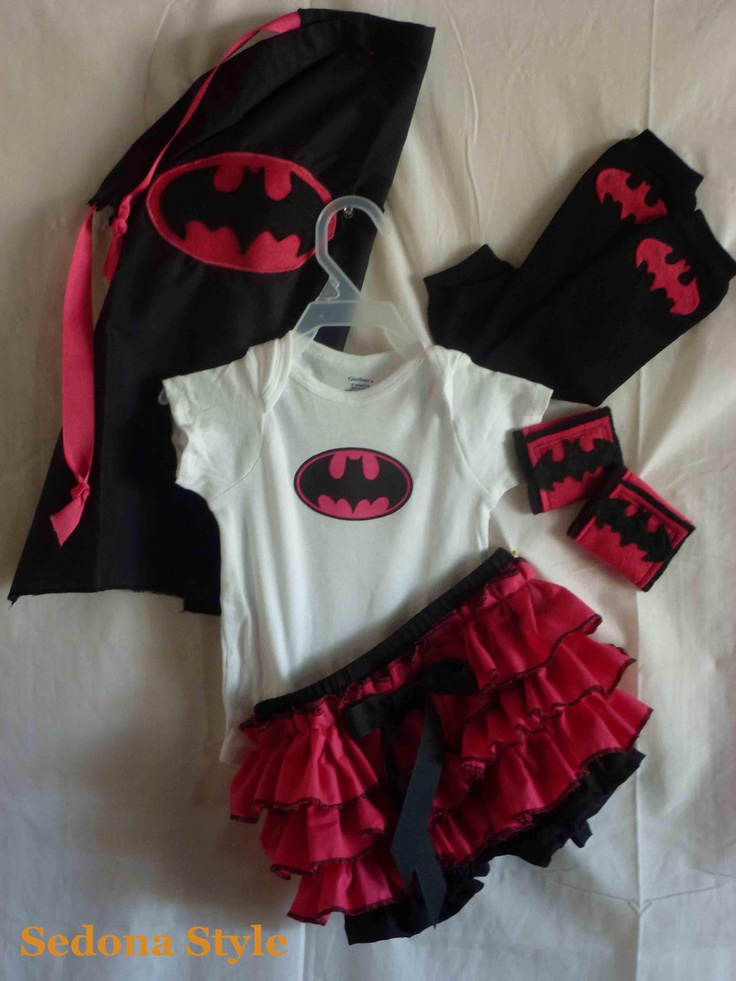 Batgirl Costume Onsie Ruffled Bloomers Outfit Cape