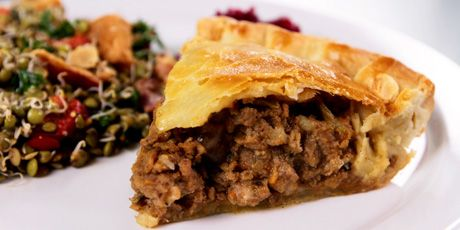 """Lamb and Stout Pie - A warm and hearty dish loaded with ground lamb, vegetables and a delicious dough crust! Courtesy of Phil Goodland of Rockert Bakery and Fresh Food as seen on """"You Gotta Eat Here"""""""