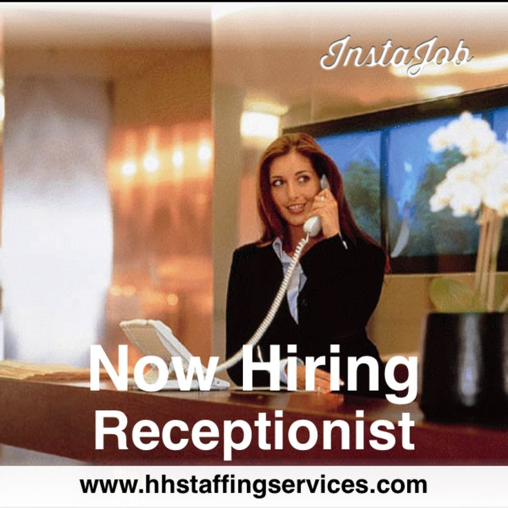 Would you make a great ‪#‎Receptionist‬? Are you good at multi-tasking and are you skilled with computers? We have ongoing ‪#‎jobopportunities‬ for you in all of our locations: ‪#‎Tampa‬, ‪#‎FortLauderdale‬, ‪#‎Sarasota‬, & ‪#‎Orlando‬, ‪#‎FL‬. Apply with us today! Pay range: $11-14/hour depending on experience. (855)709-4478 or www.hhstaffingservices.com
