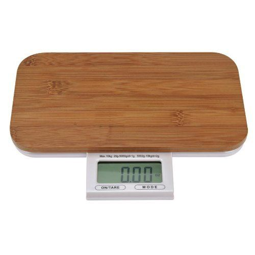 Kalorik Electronic Kitchen Scale by Kalorik. $39.99. Features a Tare Function; this function enables you to add weight to items already on the scale and measure them individually. Digital kitchen scale with bamboo finish. Low battery/over-load indicator. Retractable LCD touch panel, push and pull design. Capacity: 11 lbs.. The Kalorik Digital kitchen Scale's is super slim with a high-quality natural bamboo finish it fits seamlessly in both traditional and contempo...