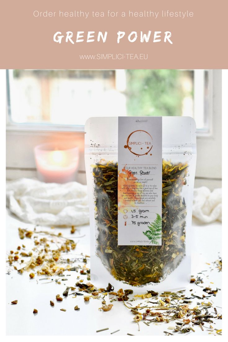 Healthy lifestyle inspiration | Healthy eating and healthy recipes | Order tea from www.Simplici-Tea.eu | Tea herbs with a healing effect on body & mindset | Green Tea