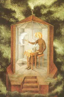 Remedios Varo,  Celestial Pablum Fine Art Reproduction Oil Painting