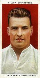 1935-36 W.D. & H.O. Wills Association Footballers #2 Jack Barker  Front