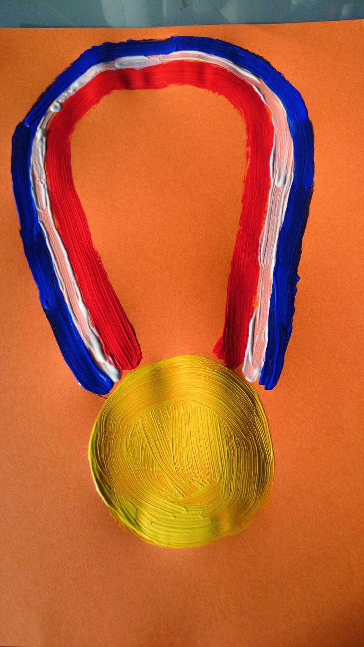 DIY knutselen Olympische Spelen - Olympic Games - Medaille goud en Nederland