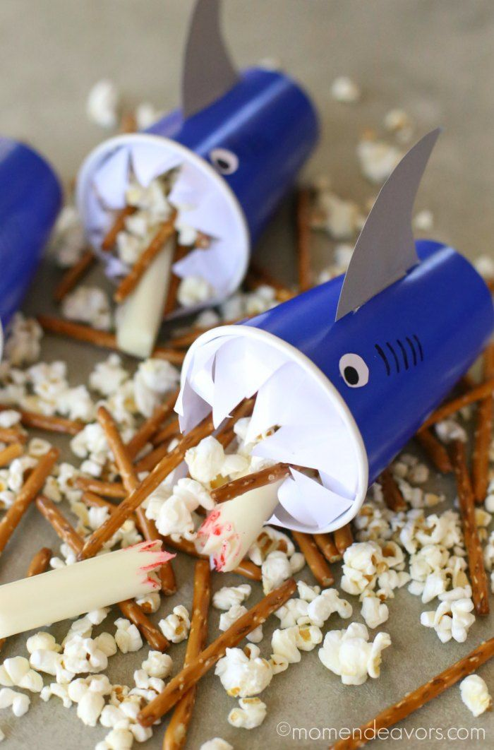 This fun shark craft & snack post is sponsored by Saputo Cheese USA Inc. Dealing with the summer snack attack? You know, theconstant hunger and asking for a snack every 10minutes that happen…