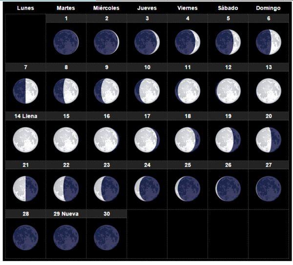 El calendario lunar Noviembre 2016 para huerto y el jardín