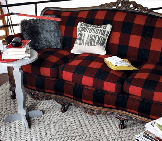 Buffalo Plaid Couch