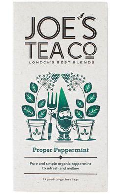 Joe's Tea Proper Peppermint är härligt fyllig pepparmintste som fyller upp alla dina sinnen med fräsch grönska. Läs mer på: http://beriksson.net/vara-varumarken/joes-tea #ekologiskt #te #JoesTea