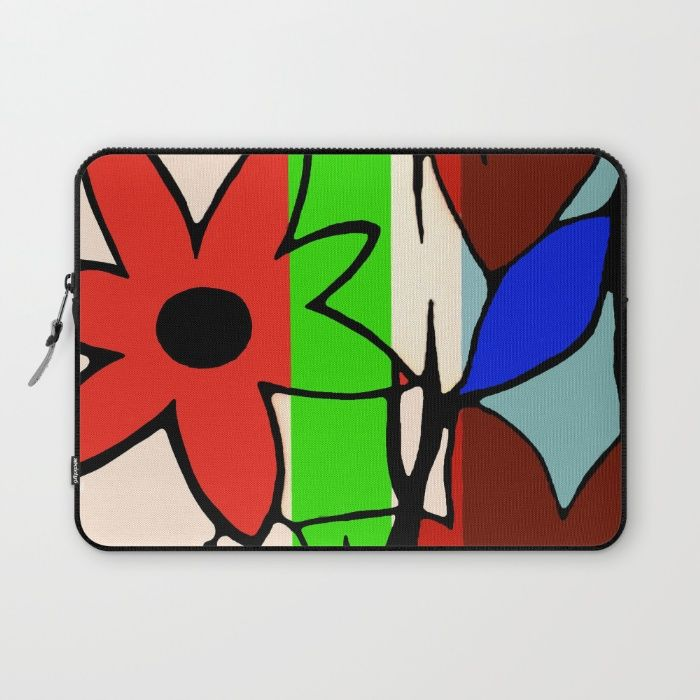 'Floral Decay' - Laptop Sleeve. #society6 #laptopaccessories #protection #lightweight #sleeves #highquality #polyester #vibrant #colorful #design #print #artwork #YKKzipper #fullylined #supersoft #scratchresistant #microfiber #laptop #case