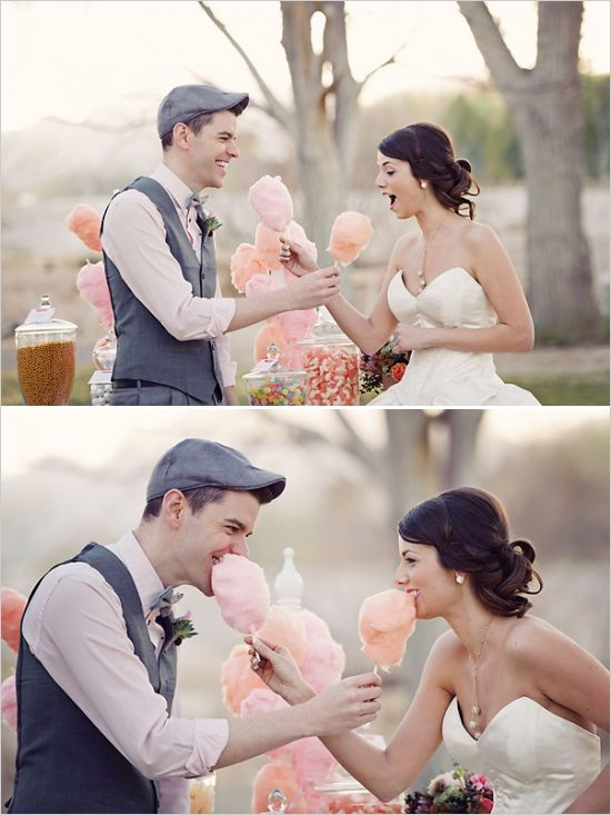cotton candy at wedding reception