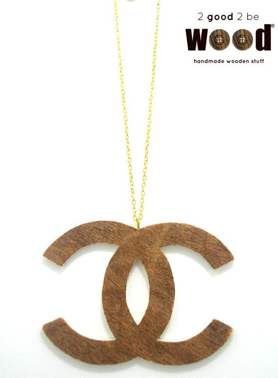 Handmade & Handpainted Wooden CHANEL Fashion Necklace