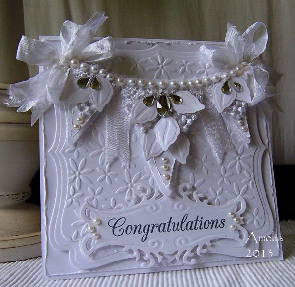 White on White card by Amelia (Stamped for the Occasion)