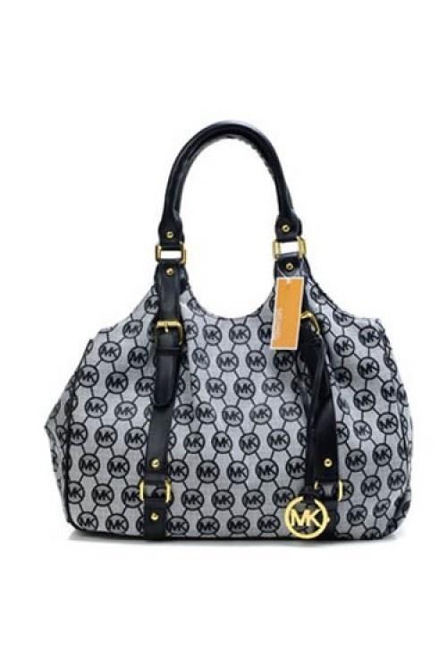 Michael Kors Round MK Logo Black Belt Bag