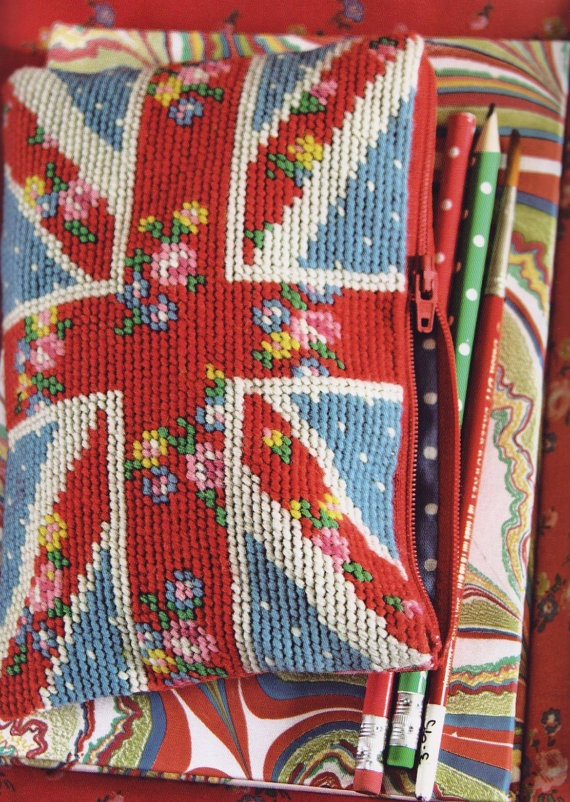 Cath Kidston tapestry! I want this needlepoint pattern!!!!
