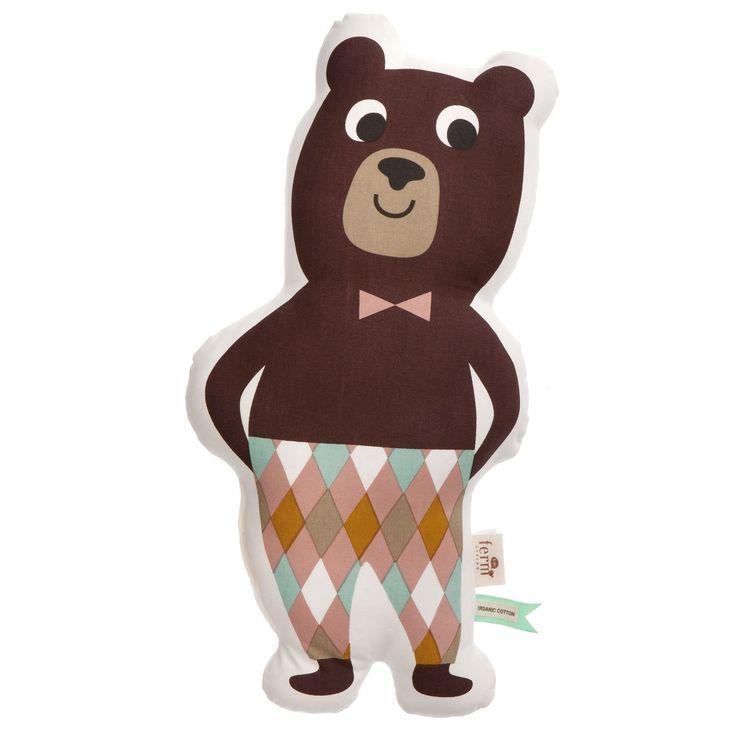 Mr. Bear kudde – Ferm Living