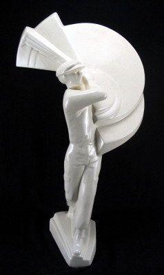 ST Clements Frankreich ART DECO crackled Keramik von GDLGArtDeco