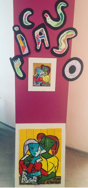 Picasso painting..  Preschool works.. 2  #clay #school #madebylittlehands #picasso #kids #project