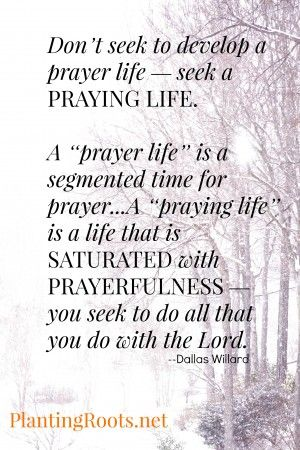 prayer, abiding in Christ, a praying life, Dallas Willard