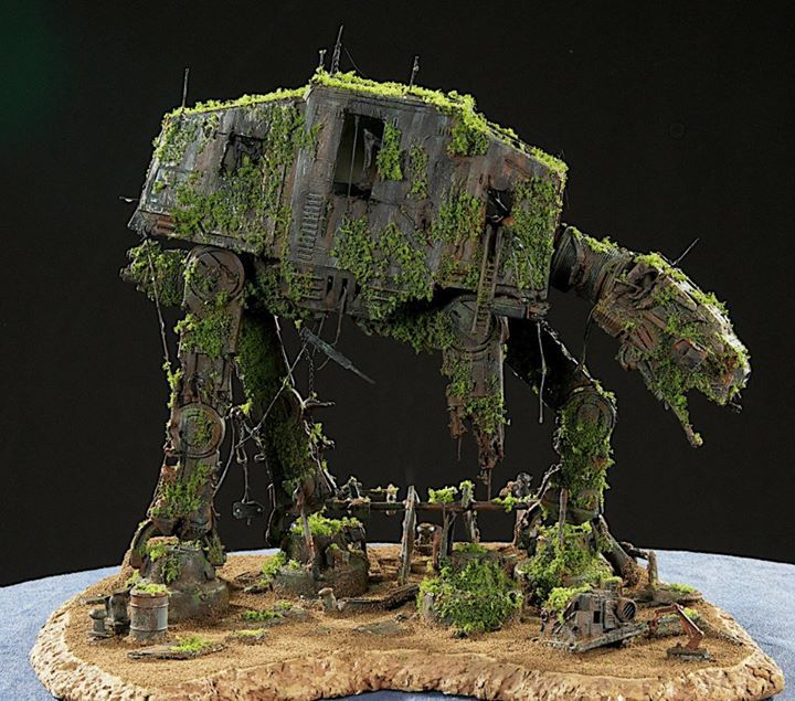 forgottan AT AT diorama by Mirko Martinovic from Star Wars always facebook page