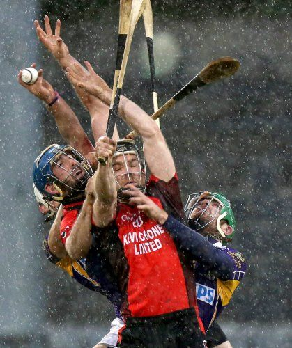 Great pic from the magnificent game of hurling! It was obviously taken last 'Movember', hence the shaggy beards!