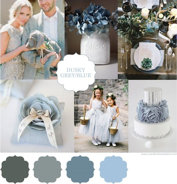 Wedding Colour Scheme {Dusky Blue and Grey} | http://brideclubme.com/articles/wedding-colour-scheme-dusky-blue-grey/