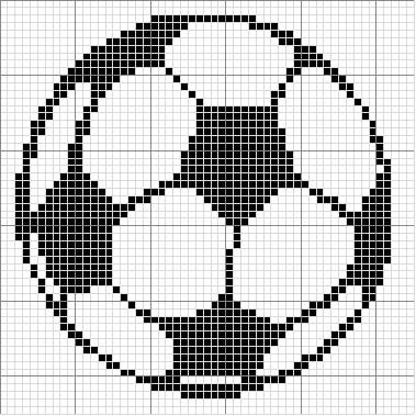 Free Cross Stitch Pattern - Angels Crochet - Soccer Ball Chart https://www.etsy.com/shop/InstantCrossStitch