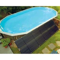 Keep your above ground pool warm all winter with this solar pool heater from Sunheater. This heating system features a stainless steel heater that works with a polypropylene heat collector to heat you