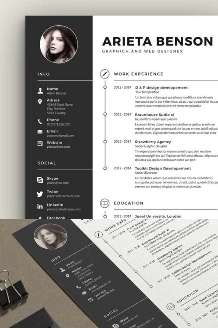 Clean CvResume in 2020 Unique resume template