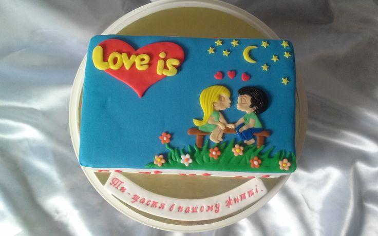 Коханому чоловіку. #торт_на_заказ_бровары #влюбленные #бисквитный_торт