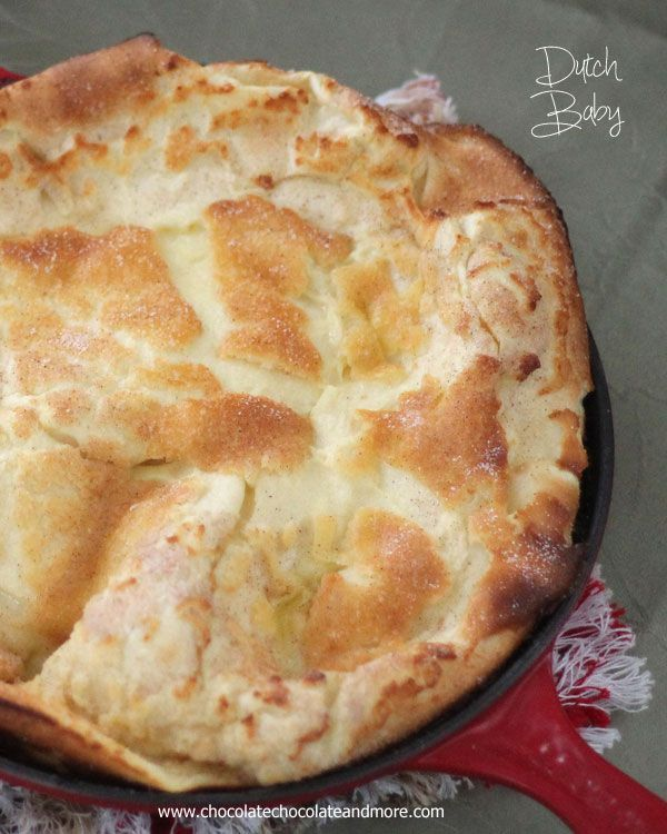 This German Pancake, more commonly know as a Dutch Baby, Takes just a few minutes to prepare and will melt in your mouth. Serve with fresh fruit, whipped cream or syrup! Breakfast at it's easiest!