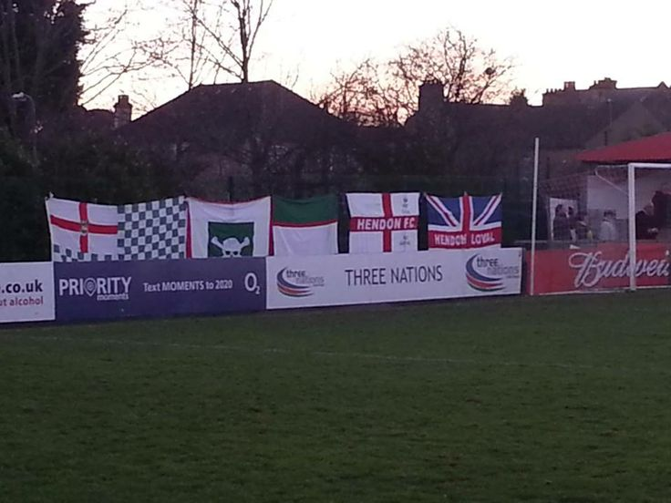 Our flags brightening up Wembley's ground.
