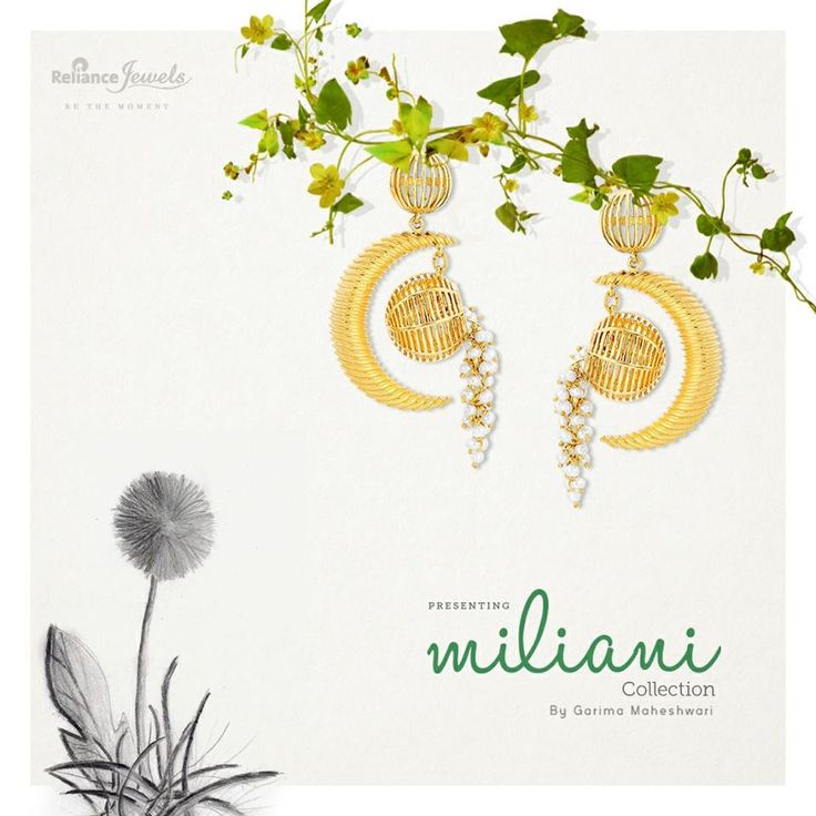 Presenting Miliani Collection By Garima Maheshwari. A gorgeous designer jewellery collection inspired from natural swings and Kadamba flowers. Adorn the magnificent earrings, rings, bracelets, pendants and necklace sets made with pure gold and flawless diamonds. www.reliancejewels.com #Reliance #RelianceJewels #Jewellery #Jewels #Gold #Diamond #Collection #Necklace #GarimaMaheshwari #Designerjewellery