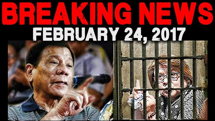 BREAKING NEWS TODAY FEBRUARY 24 2017  DE LIMA WARRANT OF ARREST l PRESID...