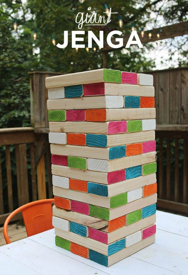 7 Summer Backyard Party Games to Play: Giant Jenga