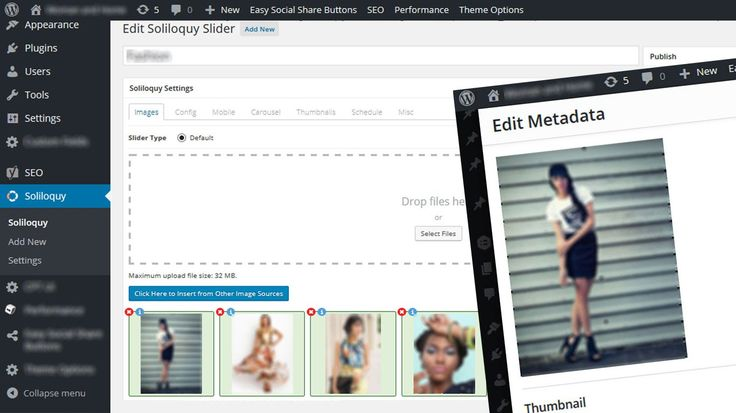 How to create or update a soliloquy slider in WordPress