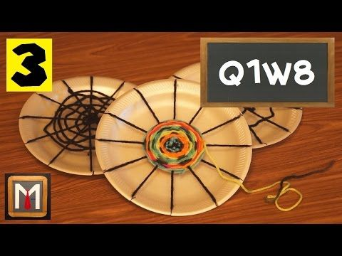 How to Make a Circle Weaving - part 1 - YouTube