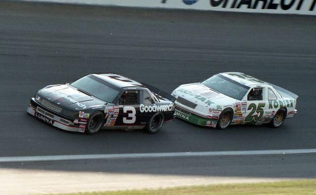 Dale Earnhardt led all 70 laps during the 1990 running of The Winston at Charlotte. Ken Schrader finished second. pic.twitter.com/EbeJj07osx  #OLDSCHOOLNASCAR