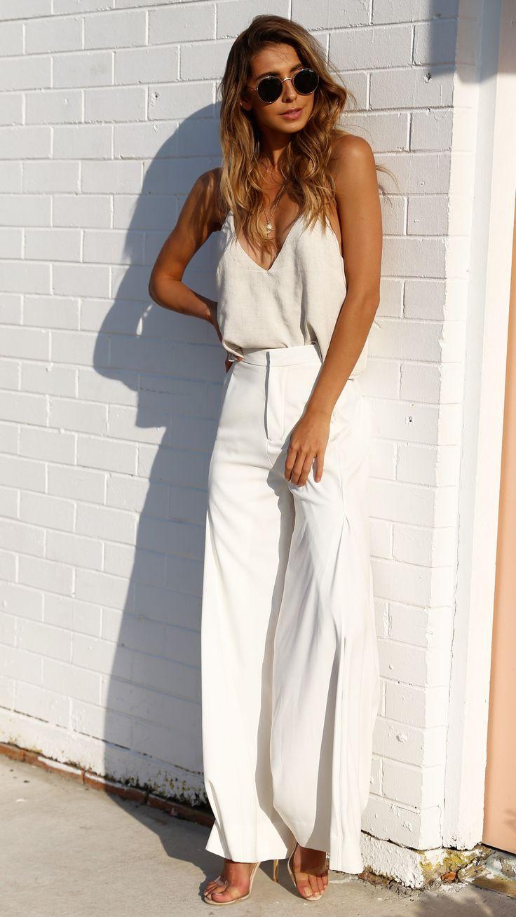 I'm Just a Girl - Hampton Pants - White - Restocked