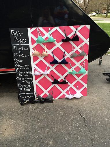 mustlovedogs | DIY BRA PONG: STAG AND DOE PARTY GAME