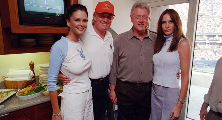 Bill Clinton girlfriends | New photos show Bill Clinton yukking it up with Trump, Melania, and ...