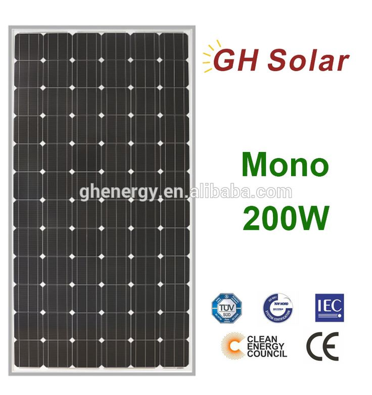 GH SOLAR-72 Cells 200w Solar Panel For Solar System