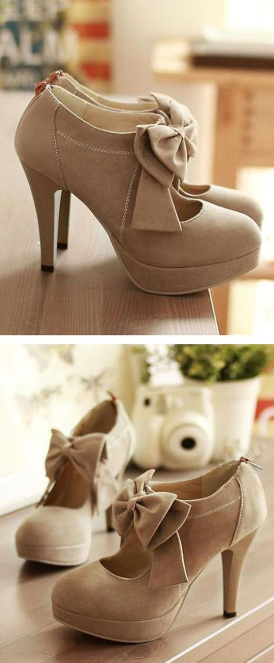 Cute Bow knot High Heels Fashion Shoes