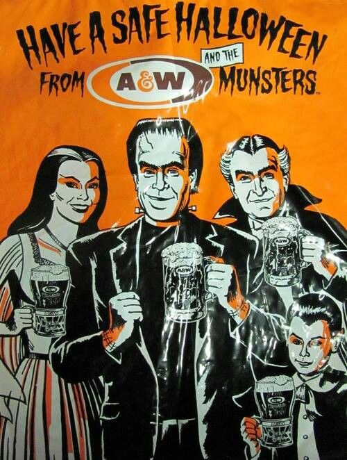 Vintage A&W Ad ( The Munsters )