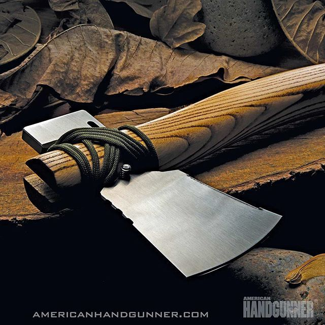 "Chopping through another week? This Klax Lumberjack from Klecker Knives will get you through. More ""off the chain"" blades in Nov/Dec American Handgunner by following our profile link. -------- #americanhandgunner #merica #murica #americanmade #madeinamerica #blades #kleckerknives #igmilitia"