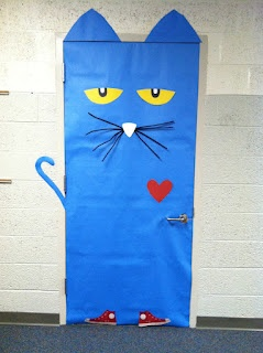 Pete the Cat...might put him on the teacher bathroom door right outside my classroom