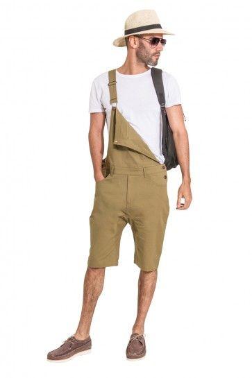 8bf9011b USKEES Mens Dungaree Shorts - Olive. #menstyle #menfashion #overalls ...