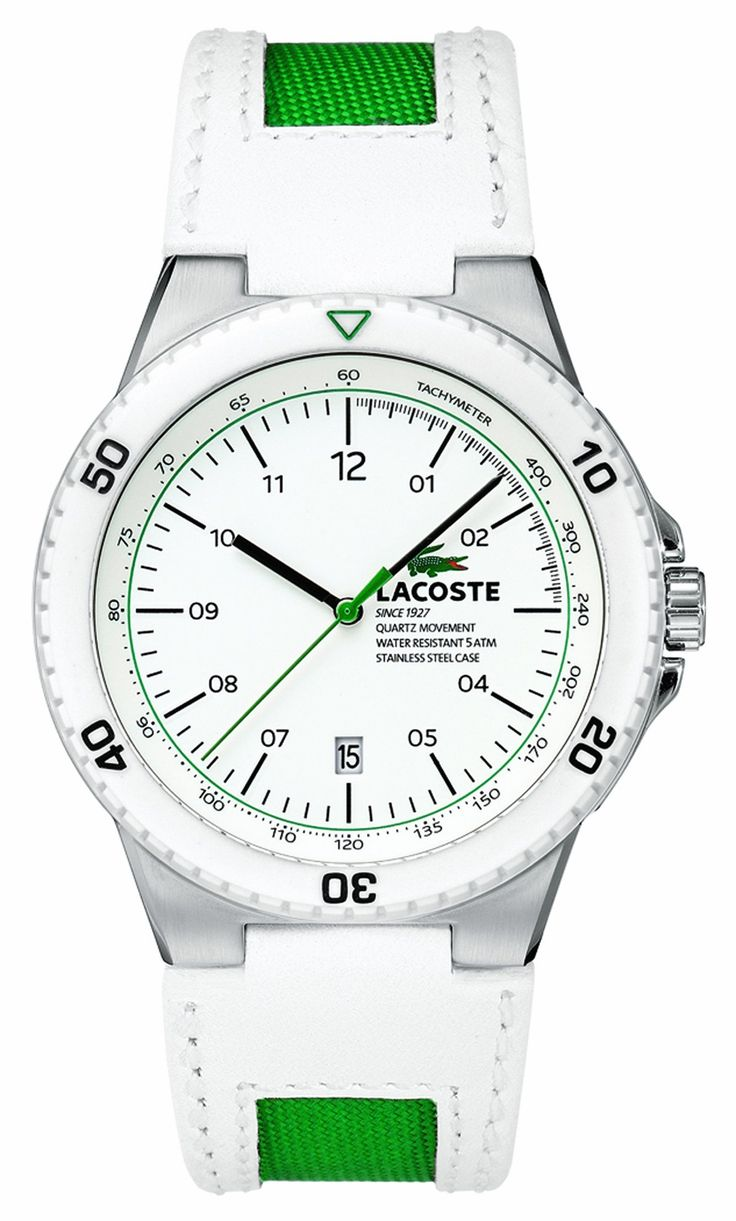 lacoste menu0027s whitegreen watches grab special discounts at lacoste canada using coupon