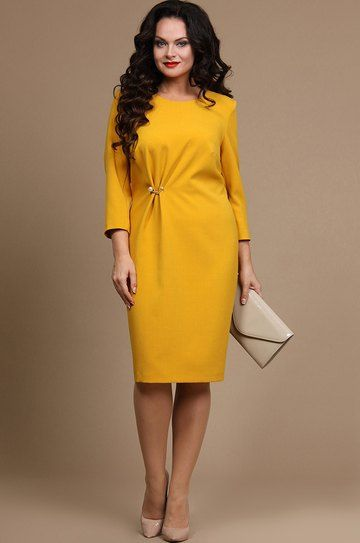 Платье Alani, Желтые тона (модель 628) — Белорусский трикотаж в интернет-магазине «Швейная традиция»